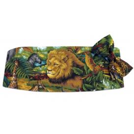 King of the Jungle Cummerbund and Bow Tie Set