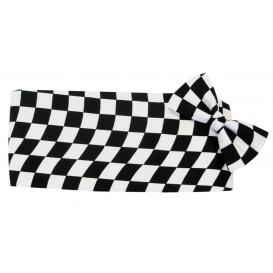 Wavy Victory Flag  Cummerbund and Bow Tie Set