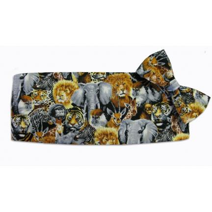 Zoofari Cummerbund and Bow Tie Set