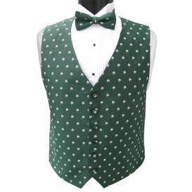 Irish Shamrocks  Vest and Tie Set