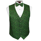 Sparkling Shamrocks Tuxedo Vest and Bow Tie Set