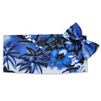 Blue Hawaiian Cummerbund and Tie