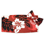 Hawaiian Hibiscus Cummerbund and Tie Set