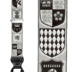 Trafalgar Black & White Coat of Arms Silk Suspenders