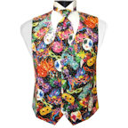 Bal Masque Mardi Gras Vest and 4-in-Hand Tie