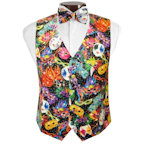 Bal Masque Mardi Gras Vest and Bow Tie
