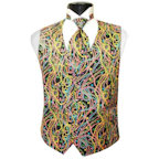 Big Easy Beads Mardi Gras Vest and 4-in-Hand Tie
