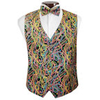 Big Easy Beads Mardi Gras Vest and Bow Tie