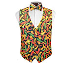 Hot n Spicy Peppers Vest and Tie Set