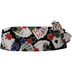 Five Card Stud Poker Cummerbund and Bow Tie Set