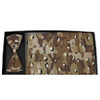 Desert Camo All Cotton Cummerbund and Bow Tie Set