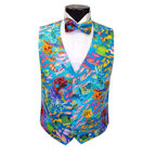 Tropical Coral Reef Vest and Bow Tie Set