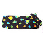Tropical Coral Reef Fish Cummerbund and Bow Tie Set