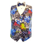 Maui Hawaiian Floral Vest and Bow Tie Set