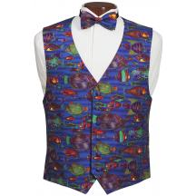 Carribean Fish Vest and Bow Tie Set