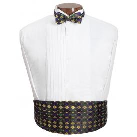 Mardi Gras Diamond Cummerbund and Tie Set