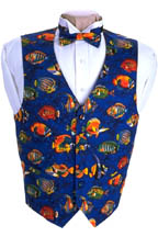 Saltwater Fish Vest and Bow Tie Set
