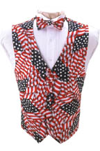 Stars and Stripes Vest and Tie Set