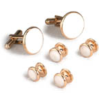 Apollo Gold Cufflinks and Studs
