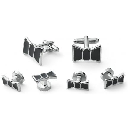 David 39 s formal wear bow tie cufflink and stud set for Tuxedo shirt without studs