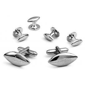 David 39 s formal wear football cufflink and stud set for Tuxedo shirt without studs
