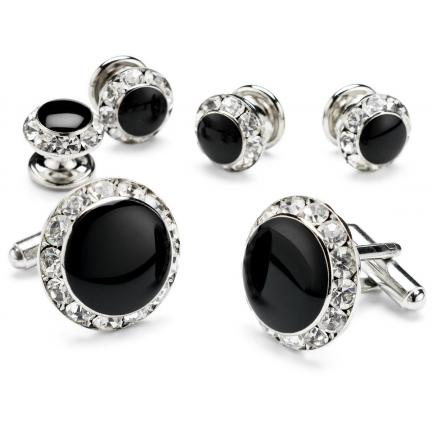 David 39 s formal wear rhinestone cuffllinks and studs for Tuxedo shirt without studs
