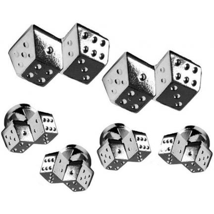 David 39 s formal wear roll the die cuffllinks and studs for Tuxedo shirt without studs