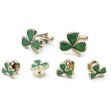 Shamrock Cufflink and Stud Set