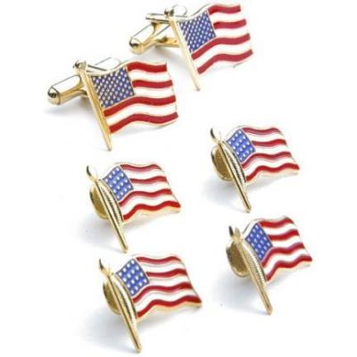 David 39 s formal wear stars and stripes cufflinks and studs for Tuxedo shirt without studs