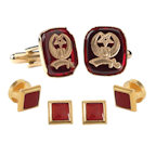 Shriner Insignia Cufflinks and Studs
