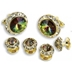 Mardi Gras Austrian Crystal Studs and Cufflinks