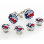 Texas Flag Formal Cufflinks and Studs