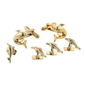 Dolphin Cuffllinks and Studs