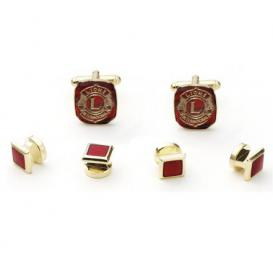 Lion's Club Cuffllinks and Studs