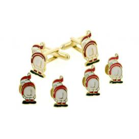 Mooning Santa Cuffllinks and Studs
