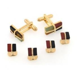 Mosaic Stone Cuffllinks and Studs