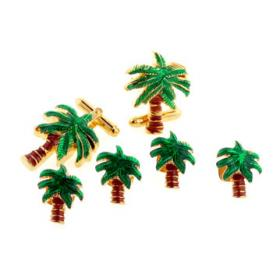 Palm Trees Cuffllinks and Studs