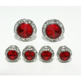 Ruby Red Cuffllinks and Studs