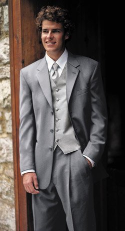 "The """"Woodhaven"" - 3 Button Notch, Satin Lapel"" Tuxedo"" Package"