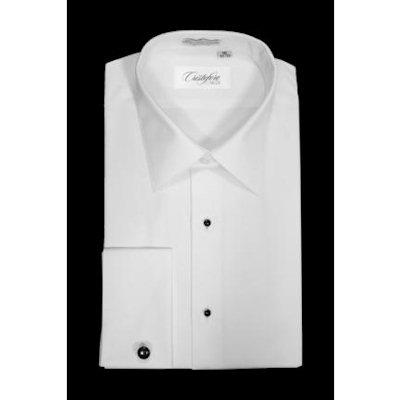 David 39 s formal wear cristoforo laydown collar plain for Tuxedo shirt without studs