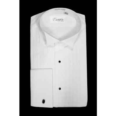 David 39 s formal wear cristoforo wing tip collar tuxedo shirt for Tuxedo shirt without studs