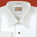Gitman Lay Down Collar Diamond Bib Front Tuxedo Shirt