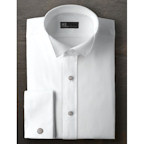 Ike Behar Pique Wing Collar Shirt with French Cuffs