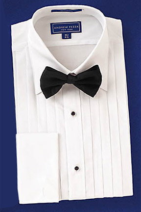 David 39 s formal wear emanuel ungaro michael spread for Tuxedo shirt without studs