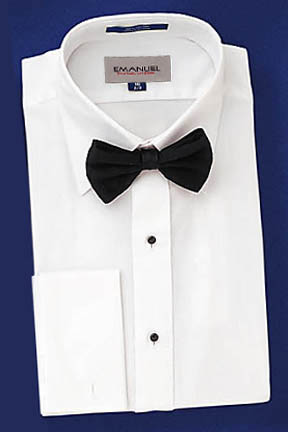 David 39 s formal wear emanuel ungaro pete spread collar for Tuxedo shirt without studs