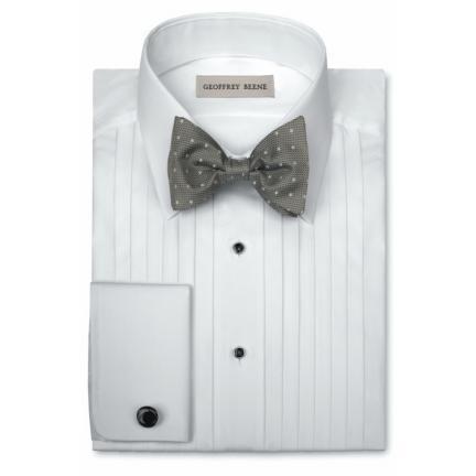 David 39 s formal wear geoffrey beene spread collar tuxedo for Tuxedo shirt without studs