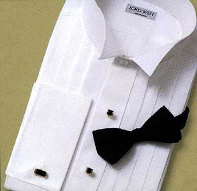 David 39 s formal wear lord west wing collar tuxedo shirt for Tuxedo shirt without studs