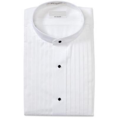 David 39 s formal wear mandarin collar tuxedo shirt for Tuxedo shirt without studs