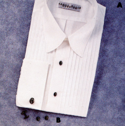 David 39 s formal wear perry ellis spread collar tuxedo shirt for Tuxedo shirt without studs