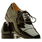 Oxford Captoe Leather Tuxedo Shoes